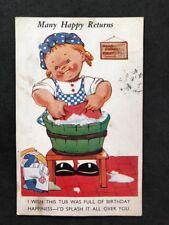 Vintage Postcard: Comic Seaside Humour #158: Happy Returns