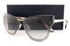 Brand New Prada Sunglasses PR 12US KUI 0A7 Gold Black/Grey Gradient For Women