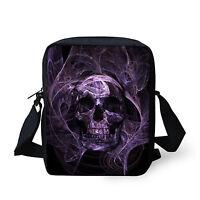 Men's Skull Head Handbag Women Messenger Sling Cross Body Shoulder Bag Purse