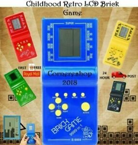 New LCD BRICK GAME SNAKE 999-IN-1 HANDHELD ARCADE CLASSIC GAMES