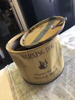 Vintage BARKING DOG Smoking Mixture Tobacco Tin Can EMPTY