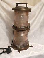 Vintage Ships Pepko White Masthead Brass Light 17102 -Maritime Double Light 44cm