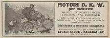 Y7906 Biciclette a motore D.K.W. - Pubblicità d'epoca - 1925 Old advertising