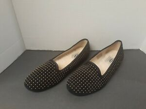 PRACTICALLY NEW! UGG Australia 39.5 US8.5 Black Gold Flats Slippers Women Shoes
