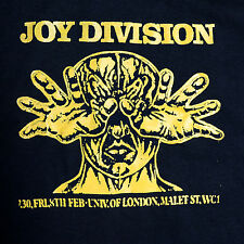 Joy Division band ***MEDIUM*** Poster printed t-shirt Yellow on Black
