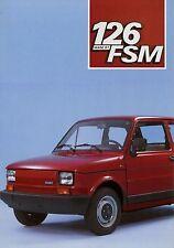 Prospetto FIAT 126 FSM 5/85 auto prospetto opuscolo 1985 brochure broschyr auto