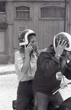 LINDSAY WAGNER EVEL KNIEVEL HELMETS THE BIONIC WOMAN 1977 NBC TV PHOTO NEGATIVE