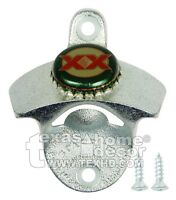 DOS EQUIS XX Beer Bottle Opener Wall Mounted Starr X Brand with Real Cap +SCREWS