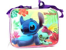 Disney Lilo And Stitch Girls Canvas Pink Insulated Lunch Bag