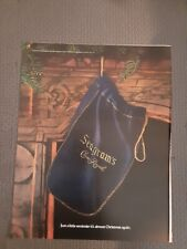 """Vintage Magazine Ad  13x10"""" 1972 Seagrams Christmas Crown Royal Pouch"""