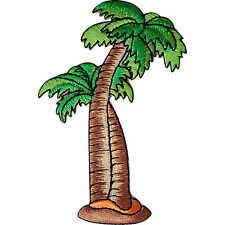 Palm Tree Patch Embroidered Badge Embroidery Crafts Holiday Beach Iron Sew On
