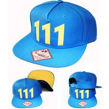 Fallout Vault 111 Chrome Weld Blue Yellow Snapback Hat Cartoon Character Cap