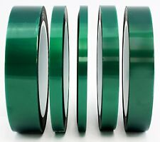 "5-Pack Green Polyester Hi-Temp Masking Tape Multi-Sized Value Bundle; 1/4"", & 1"""