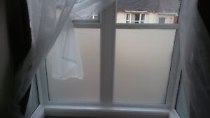Static Cling Privacy Frosted Window Film Easy Installation Stippolyte Finish