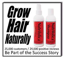 NUTRIFOLICA REGROWTH COMBO TREATMENT SHAMPOO regrow hair loss reverse bald spots