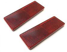 2x Reflektor Katzenauge Seitenstrahler 85.5x31.5mm Rot Selbstklebend E-Geprüft
