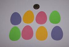 8 Easter Eggs Premade PAPER Die Cuts / Scrapbook & Card Making