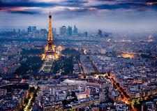 PARIS CITY LIGHTS NEW A3 CANVAS GICLEE ART PRINT POSTER