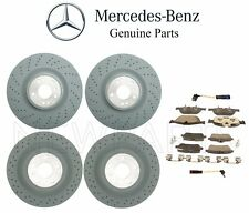 For Mercedes X166 GL450 Front & Rear Brake Disc Rotors w/ Pads & Sensors OES Kit