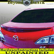 Mazda 3 2010 2011 2012 2013 OEM Factory Style Spoiler Flush Lip Wing UNPAINTED