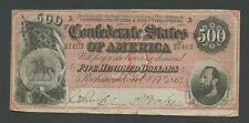 UNITED STATES - Confederate  $500  Red  1864  Currency