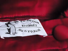 YOYO DESIGN,Hobart RedSatinWrapLongPartySkirtSizeL