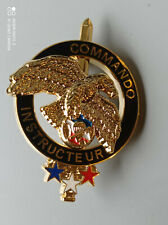 5.15O) Bel insigne militaire COMMANDO INSTRUCTEUR french medal