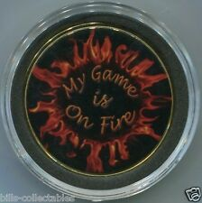 My Game Is On Fire - poker spinner - card guard cover protector