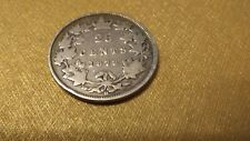 1872 H QUEEN VICTORIA CANADIAN 25 CENTS .925 SILVER  149 YEARS OLD VG 8 NICE