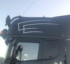 2 x LKW Zacken Dekor Aufkleber Dach - Scania MAN Volvo DAF schwarz oder weiß
