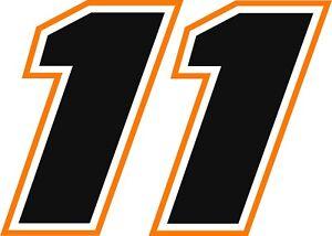 NEW FOR 2018 #11 Denny Hamlin Racing Sticker Decal - SM thru XL various colors