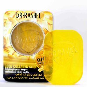 DR RASHEL 24K Gold Bio Collagen Soap Youthful Whitening Essential Oil Soap