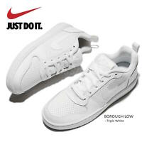 Nike Court Borough Low All White Leather Shoe Sneakers Women's size 11.5
