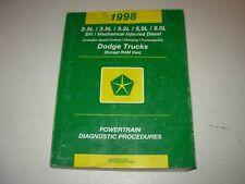 1998 Dodge Truck MFI Diesel Engine Powertrain Diagnostic Procedures Manual