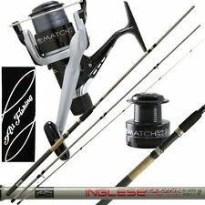 Kit per la pesca all' inglese canna Bronzo All Fishing + mulinello con filo LP52