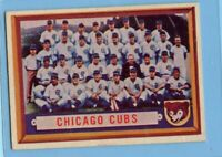 1957 Topps Baseball Card #183 Chicago Cubs Team Card (EM)