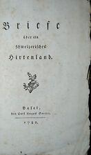 Bonstetten-lettere tramite un svizzero pastori paese – Basilea 1782