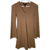 BCBGMAXAZRIA Womens Sweater Dress Fit and Flare A-Line Bell Sleeve Size Small