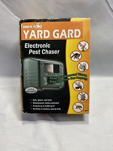 Bird-X Yard Guard, Electronic Pest Chaser, for small/shy mammals, Rodents, H5