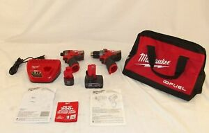 Milwaukee M12 FUEL 12-Volt Lithium-Ion Brushless Cordless Hammer Drill And Impac