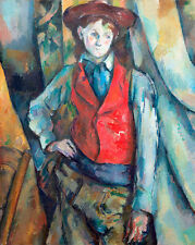 Boy in a Red Waistcoat by Paul Cezanne A1+ High Quality Art Print