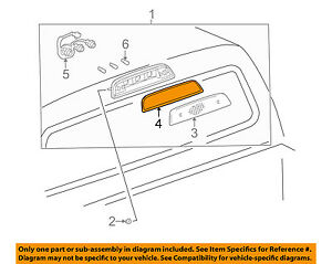 TOYOTA OEM 95-04 Tacoma High Mounted Stop Lamp-Rear Lamps-Lens Gasket 8157204010