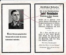 Nr18163 Sterbebild deathcard Nachrichten Soldat 1945 Iglitz Jaroslav  Altheim