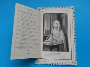 Lace Holy card goodbye to the world BECOMING A SISTER  LETAILLE VITAM