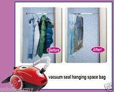 5x Jumbo VACUUM SEAL HANGING GARMENT BAGS SPACE SAVER SAVING SUIT STORAGE BAG