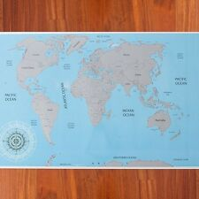 NEW LARGE SCRATCH OFF SCRATCHING TRAVEL WORLD COUNTRY TRACKER WALL MAP POSTER