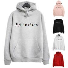 Womens Hoodies Shirt Hooded Sweatshirt Loose Ladies Letters Friends Blouse Tops