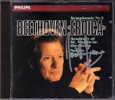 Sir Neville MARRINER Signed BEETHOVEN Symphony No.3 Eroica Academy St. Martin CD