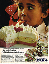 PUBLICITE ADVERTISING 054  1978  MIKO   glace VACHERIN