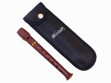 Wood Simulated Garklein(Piccolo) Recorder+ Fingering Chart+ Bag